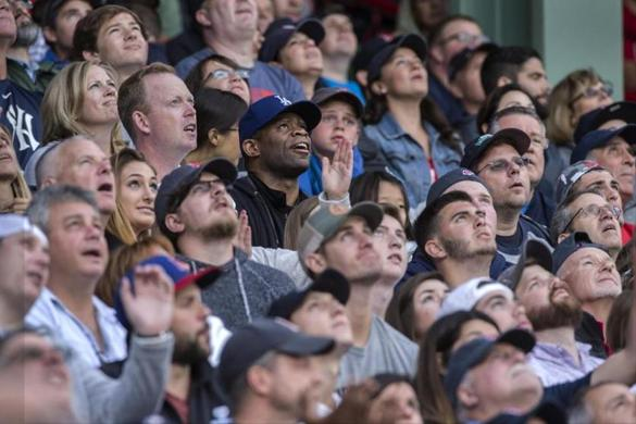 Kenyatta Savage was surrounded by a sea of white fans at Fenway Park at a July game.